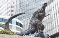 """日比谷に高さ3メートルの""""新・ゴジラ""""像誕生 沢口靖子「今にも動き出しそう」"""