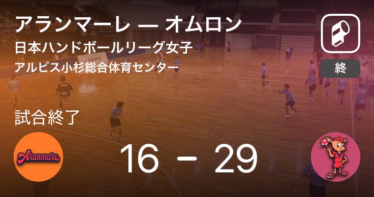 【日本ハンドボールリーグ女子19週目】オムロンがアランマーレに大きく点差をつけて勝利