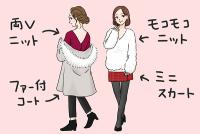 モコモコニットに釘付け…♡男を落とす「冬ファッション」4選