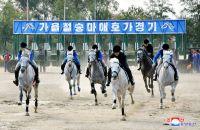 北朝鮮の乗馬クラブで競馬開催、外貨獲得の狙いか