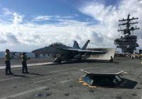 米空母が日本海で韓国軍と合同演習、北朝鮮に圧力