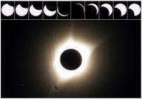 皆既日食が99年ぶりに米大陸横断、各地で天体ショー観測