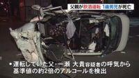 父親が飲酒運転 1歳男児死亡、札幌 軽乗用車で横転事故