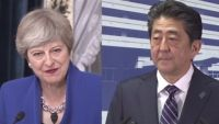 英・メイ首相が安倍首相に祝意、衆院選で自民勝利