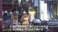 東京・上野「アメ横」で火事、焼き肉店のダクトから出火