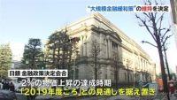 日本銀行、大規模な金融緩和策維持を決定