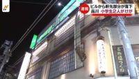 東京・品川でビルから軒先部分が落下、小学生2人けが