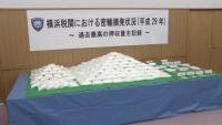 横浜税関、違法薬物の押収量が過去最高に