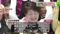 仙台市長選、野党が支持の郡和子氏当選
