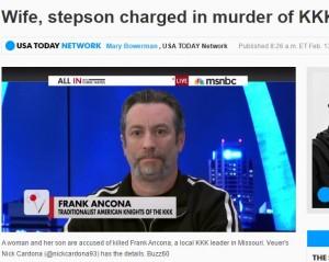 白人至上主義の秘密結社「KKK」 最高指導者が妻とその連れ子に殺される!(米)