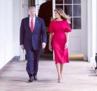 メラニア夫人、手をつなごうとするトランプ大統領の手を払いのける