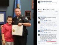 虐待を受けていた少年、救出した警察官が養子として引き取る(米)