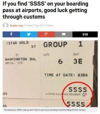 空港で手にした搭乗券に「SSSS」の文字があったら、アナタを待っているものは…!?(米)