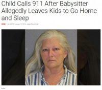 5歳~8歳児を放置し自宅に戻ったベビーシッター 子供の通報で逮捕(米)