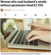 メールを盗み見され浮気がバレた夫、逆ギレし告訴 妻は罰金刑に(スイス)