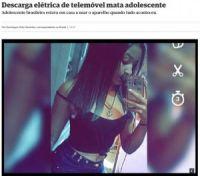 スマホ充電中にイヤホンを使用した17歳少女が感電死(ブラジル)