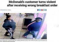 マクドナルドの客、注文を間違えられ激怒 従業員を突き飛ばす(米)