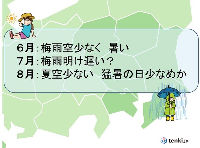 関東の梅雨入りはいつから