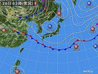 26日 秋晴れ続くが、関東は不安定