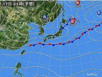 17日 東京と大阪 11月並みの寒さ