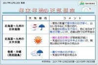 年末年始の天気傾向 日本気象協会発表