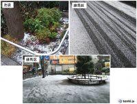 都内も道路に雪が積もり始めました
