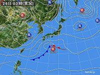 26日の天気 関東から北はまだ真冬