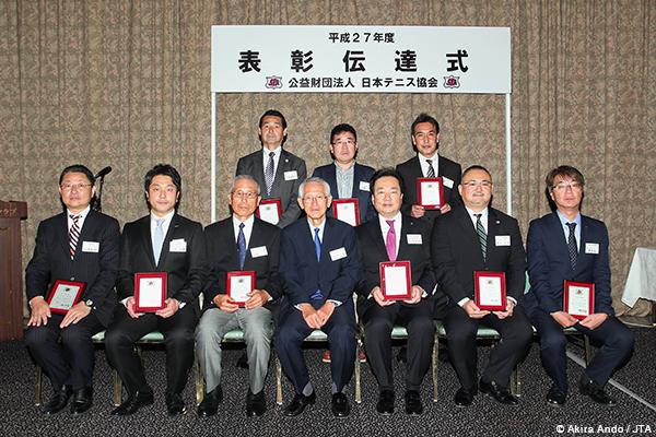 平成27年度日本テニス協会「表彰伝達式」表彰者一覧、最優秀選手賞は錦織、国枝、上地