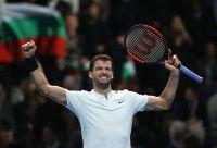 ディミトロフが圧倒、全勝で準決勝へ[ATPファイナルズ]