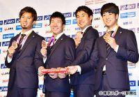 世界陸上400リレー銅の4人が帰国 東京五輪「金」へ意欲