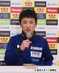 【全日本卓球】張本智和 悲願のジュニア優勝「強引に点を取れるようになった」