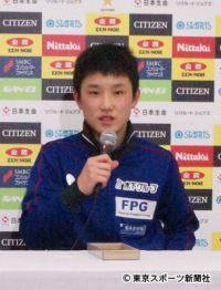 【全日本卓球】14歳・張本智和は準々決勝へ「最年少優勝目指す」
