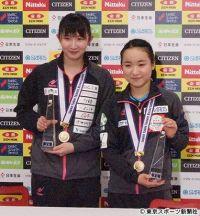 【全日本卓球】伊藤美誠&早田ひな 優勝の要因は「すごく頭が回った」