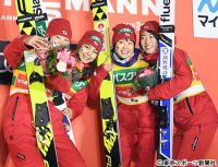 【ジャンプW杯】女子団体で日本圧勝 高梨に久々笑顔「勝つっていいな」