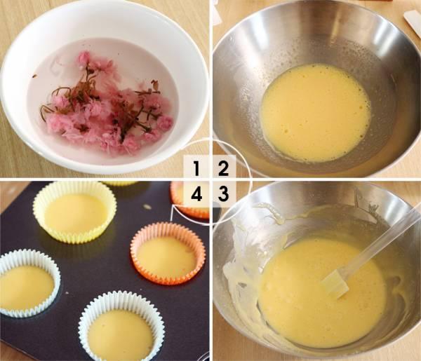 【今月のスイーツ】HMで作る桜のミニカップケーキ