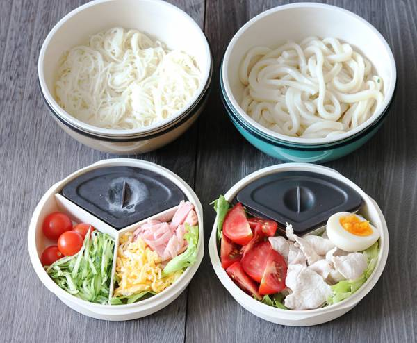 これからの新しいランチスタイル、麺専用ランチボウルで「のせるだけ丼」「たっぷりサラダ」弁当