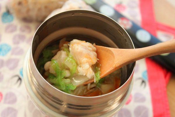 ささみと白菜のトロトロスープ横