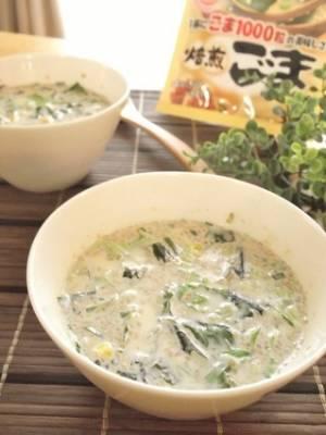まろやか担々風味☆「ミルクわかめスープ」レシピ