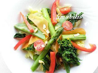 春にお似合い♪「春野菜のサラダ」
