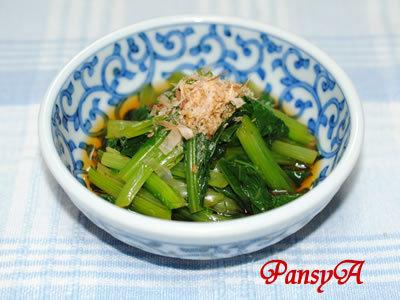 小松菜のおひたしby:パンジーさん