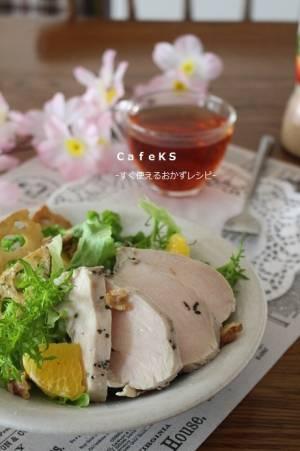 素材一品だけレシピ、コンビニ風?サラダチキンバジル風味by:えつこさん