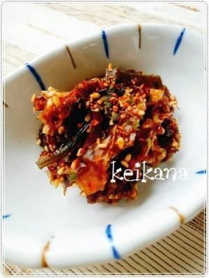 電子レンジで超簡単☆だしをとった後の昆布&鰹節+生姜の佃煮♪by;keikanaさん