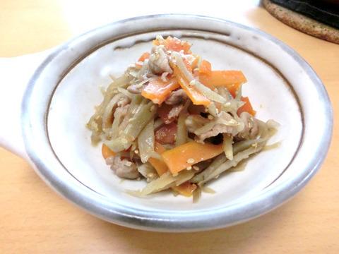 豚肉とゴボウのきんぴらby:kotoneazusaさん