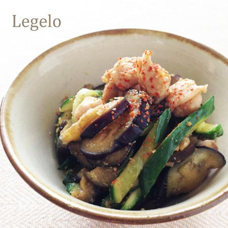 肉と茄子きゅうりのショウガ醤油ごま和え☆超簡単♪夏のおかずby:Legeloさん