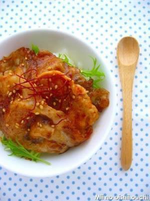 韓国風コチュジャン豚丼by:みぃさん