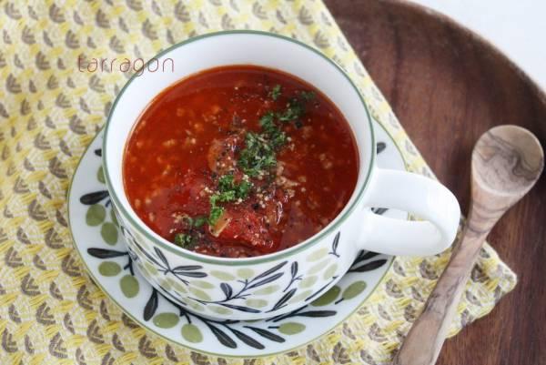 そろそろ紫外線対策!10分でできる「トマトとひき肉のボリュームスープ」by:タラゴン(奥津純子)さん