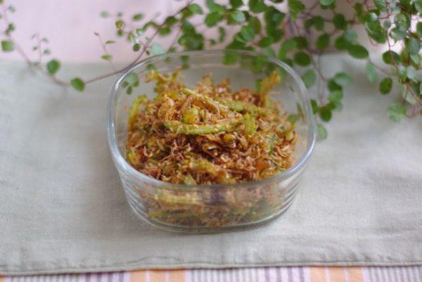 白いご飯に!おかか風味の簡単作り置き「ゴーヤとじゃこのふりかけ」by:Mayu*さん