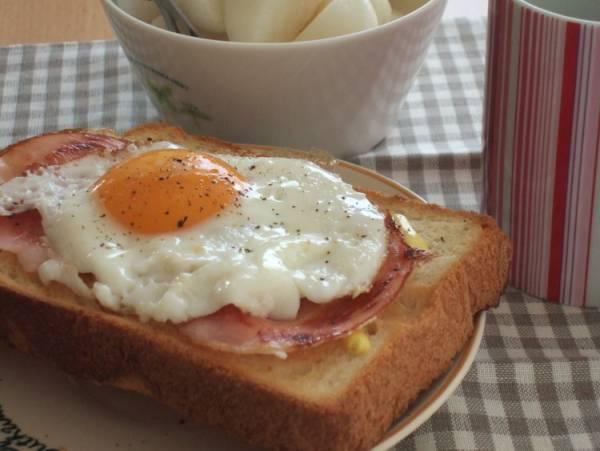 焼きたて食パンのハムエッグトーストby:みちこ。