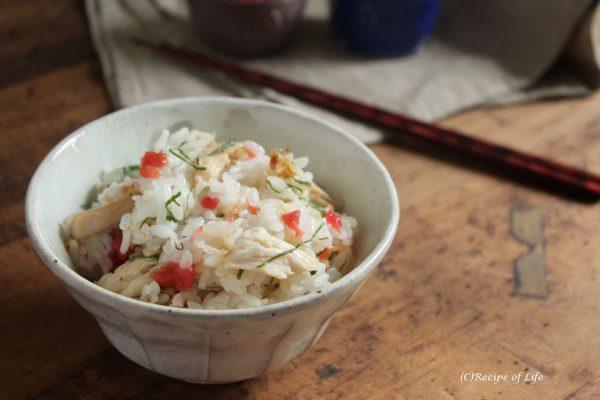 サラダチキンと梅と大葉の混ぜごはんby:河合真由子さん