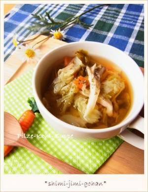舞茸とキャベツの香味野菜スープby:庭乃桃さん